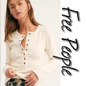 Free People Tide Henley Top NWT L